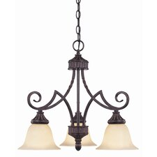 Keystone 3 Light Down Chandelier