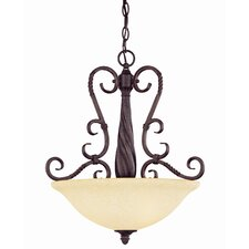 <strong>Savoy House</strong> Bellingham 3 Light Bowl Inverted Pendant