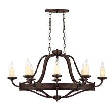 Elba 8 Light Oval Chandelier Island Light