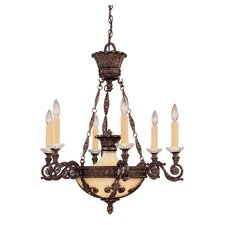 <strong>Savoy House</strong> Corsica 6 Light Chandelier