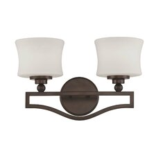 <strong>Savoy House</strong> Terrell 2 Light Bath Vanity Light