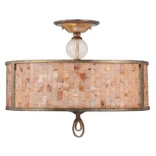 Acacia 3 Light Semi Flush Mount