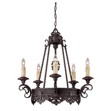 Upper Gull 5 Light Chandelier