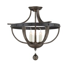 Whitcomb 3 Light Semi-Flush Mount