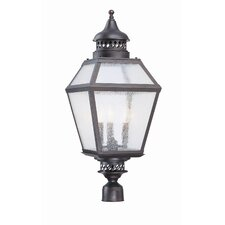 Chimnea 3 Light Outdoor Post Lantern