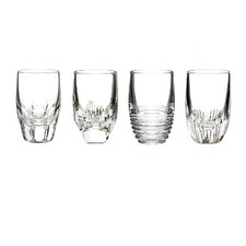 4 Piece Mixed Shot Glass Set