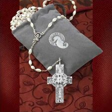 Celtic Rosary Beads w/ Crystal Cross