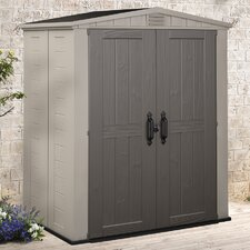 Factor 3.5ft. W x 6ft. D Resin Tool Shed