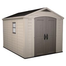 "Factor 11' W x 8'5"" D Resin Storage Shed"