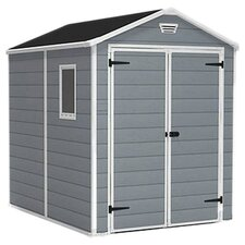 "Manor 6'1.1"" W x 7'9.2"" D Plastic Tool Shed"