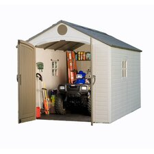8ft. W x 12.5ft. D Plastic Storage Shed