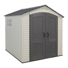 7ft. W x 7ft. D Plastic Storage Shed II