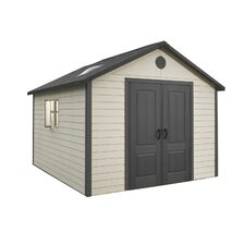 11ft. W x 11ft. D Plastic Storage Shed II