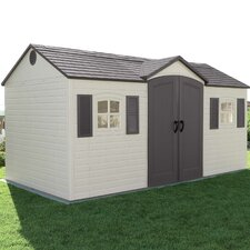 Side Entry 14.5ft. W x 7.5ft. D Plastic Storage Shed