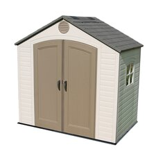 8ft. W x 5ft. D Plastic Storage Shed