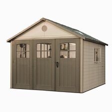 11ft. W x 11ft. D Plastic Storage Shed
