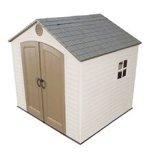 8ft. W x 7.5ft. D Plastic Storage Shed