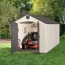8ft. W x 15ft. D Plastic Storage Shed