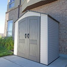 7ft. W x 4.5ft. D Plastic Storage Shed