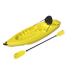 Daylite Kayak with Paddle and Back Rest in Yellow