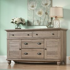 <strong>Sauder</strong> Harbor View 4 Drawer Cubby Dresser