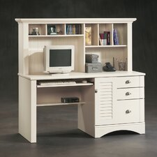 "<strong>Sauder</strong> Harbor View 62.25"" Computer Desk with Hutch"