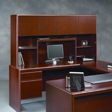 <strong>Sauder</strong> Cornerstone Executive Desk with Hutch