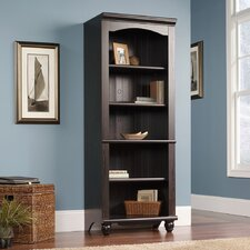 Harbor View Library Bookcase in Distressed Antiqued Paint
