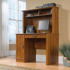 Harvest Mill Computer Desk with Hutch