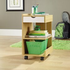 <strong>Sauder</strong> Juice Studio Edge Utility Cart in Rice and White Oak