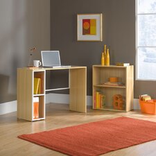 <strong>Sauder</strong> Treble Studio Edge Writing Desk with Bookcase