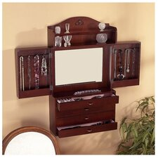 Kent Wall Mounted Jewelry Armoire with Mirror