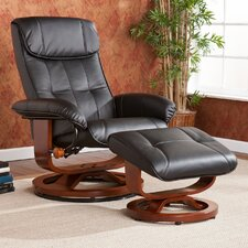 <strong>Wildon Home ®</strong> Carter Bonded Leather Recliner and Ottoman