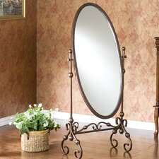 <strong>Wildon Home ®</strong> Vanderbilt Mirror in Antique Bronze