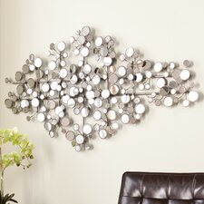 Sera Mirrored Metal Wall Sculpture