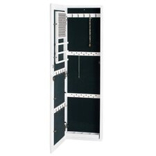 Bullock Wall Mounted Jewelry Armoire with Mirror