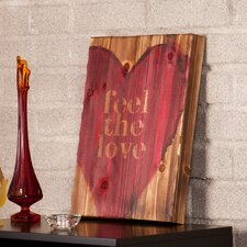 "<strong>Wildon Home ®</strong> Holly and Martin Swoon Wall Panel ""Feel The Love"" Print"