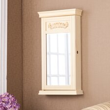 <strong>Wildon Home ®</strong> Waverly Wall Mounted Jewelry Armoire with Mirror