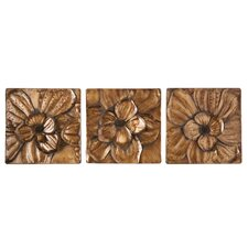 <strong>Wildon Home ®</strong> 3 Piece Burton Magnolia Panel Wall Décor Set