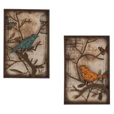 2 Piece Merrick Vintage Bird Wall Décor Set
