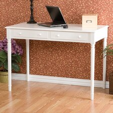 Hannelore 2-Drawer Writing Table in Crisp White