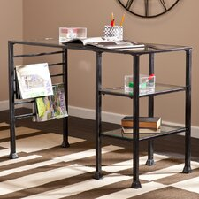 Acadia Writing Desk - Metal and Glass