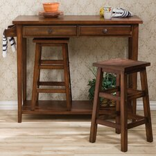 Nutley 3 Piece Breakfast Table Set in Espresso