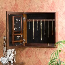 <strong>Wildon Home ®</strong> Wall Mounted Jewelry Armoire with Mirror