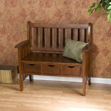 Davidson Storage Wood Entryway Bench