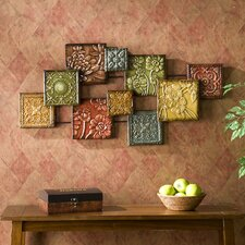 "Bijou Wall Sculpture Square Panel Wall Art - 20.75"" x 41.5"""