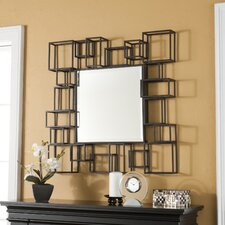 Marino Decorative Wall Mirror in Espresso