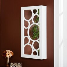Britlee Wall Mounted Jewelry Armoire with Mirror
