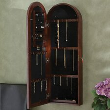 Fenwick Wall Mount Jewelry Armoire - Dark Cherry