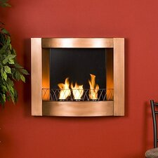 Curved Wall Mounted Gel Fuel Fireplace